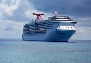 Carnival Legend anchored off Grand Cayman