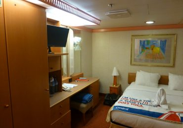 Interior cruise ship stateroom