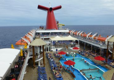 Carnival Ecstasy pool deck